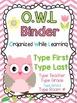 OWL Binder Covers **EDITABLE**
