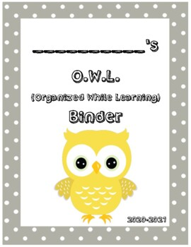 O.W.L. Binder Covers (Gray Border)