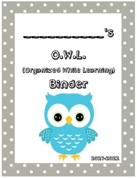 O.W.L. Binder Covers (Gray Border)