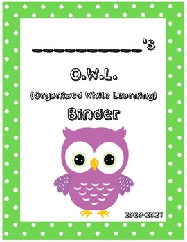 O.W.L. Binder Covers (Green Border)