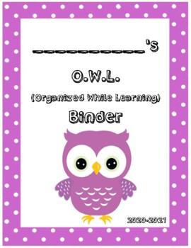 O.W.L. Binder Covers (Purple Border)