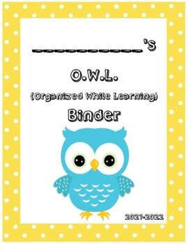 O.W.L. Binder Covers (Yellow Border)