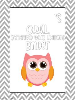 O.W.L. Binder Documents and Tabs EDITABLE