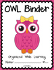 OWL Binder {Student Organization Folder} Theme 1
