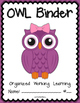 OWL Binder {Student Organization Folder} Theme 1