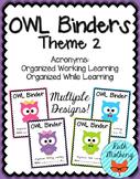 OWL Binder {Student Organization Folder} Theme 2