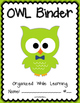 OWL Binder {Student Organization Folder} Theme 2