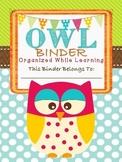 OWL Binder- Student binder with an owl theme