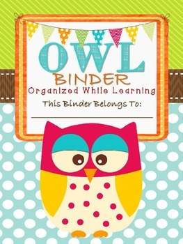 OWL Binder- Student binder with an owl theme