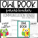 OWL Communication Binder - Editable