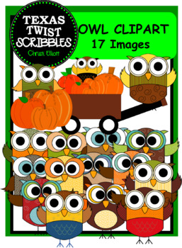 OWL CLIP ART with 10 pieces