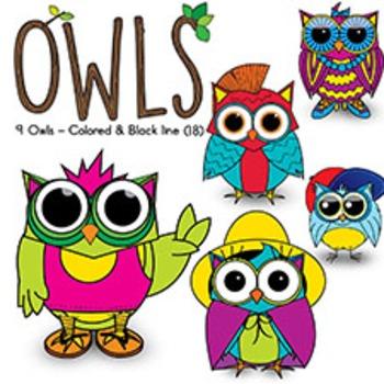 OWL CLIPART {Watson Works Clip Art/Graphics}