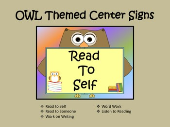 OWL Centers Signs