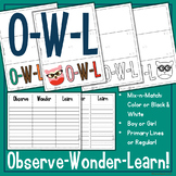 FREEBIE: OWL Chart - Observe Wonder Learn - Distance Learning
