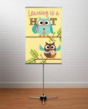 OWLS - Classroom Decor: MEDIUM BANNER, Learning is a HOOT
