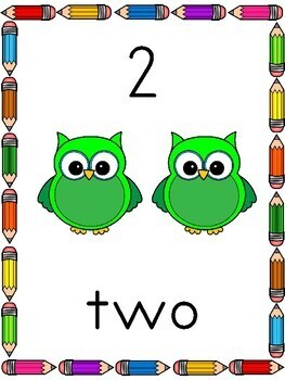 OWL Classroom Posters Numbers 0-20