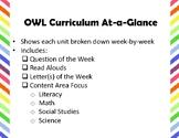 OWL Curriculum At-A-Glance