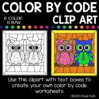 OWL DESIGNS Color by Code Clip Art