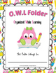Homework Folder Cover - OWL Folder Home and School Connection Tool