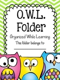 O.W.L. Folder {Organized While Learning} Parent Communicat