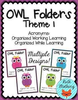 OWL Folder {Student Organization Folder} Theme 1