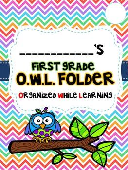 OWL Folder and Binder Covers for Grades K-5