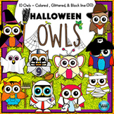 OWL HALLOWEEN CLIPART {Watson Works Clip Art/Graphics}