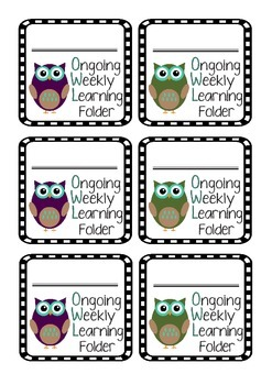 OWL Home Folder Labels