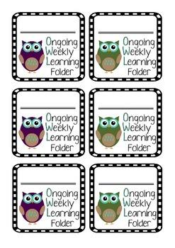 OWL Home Folder Labels