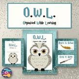 OWL Homework Folder (Harry Potter Hedwig)