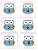 OWL LETTER AND NUMBER CARDS