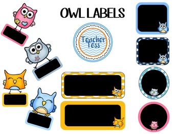 OWL Label Classroom Pack