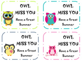 OWL MISS YOU: Student Goodbye Notes
