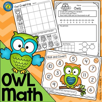 OWL Math - Addition - Subtraction - Roll & Cover - Graphing - Sequencing