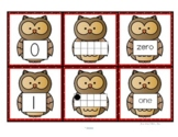 OWL Number Cards 0-10 - Numerals, 10-Frames, Number Names FREE