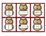 OWL Number Cards 0-10 - Numerals 10-Frames Number Words