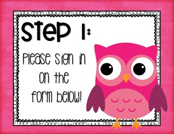OWL OPEN HOUSE FORMS FREE