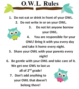OWL Organizational Binder Pack
