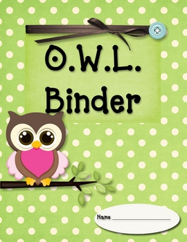 O.W.L. Organizational Binder Starter Kit