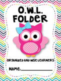 OWL {Organized While Learning} Folder & Binder