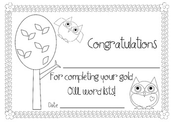 OWL (Oxford Word List) Certificates set