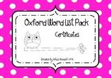 OWL (Oxford Word List) Certificates set