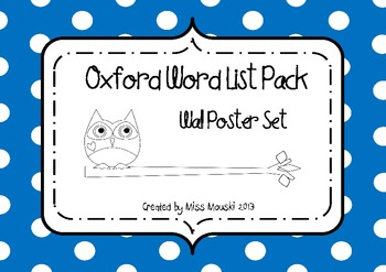 OWL (Oxford Word List) Wall Posters