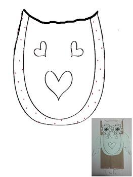 OWL PAPER BAG PUPPET -  VALENTINE