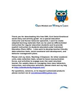 OWL Social Skills Club Activity Packet