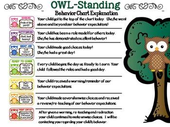 OWL-Standing Behavior Clip Chart