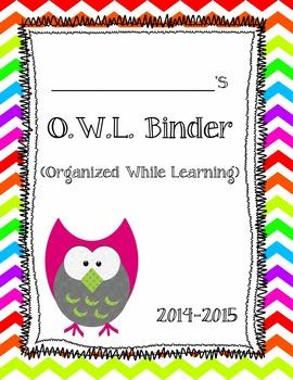 OWL Student binder