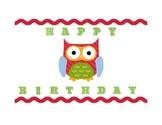 OWL-THEMED BIRTHDAY CHART, EDITABLE
