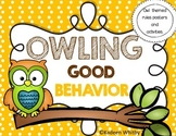 OWL THEMED CLASSROOM RULE POSTERS(EDITABLE)