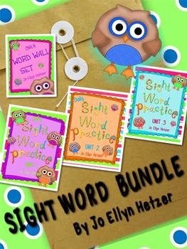 OWL THEMED WORD WALL & SIGHT WORD PRACTICE BUNDLE